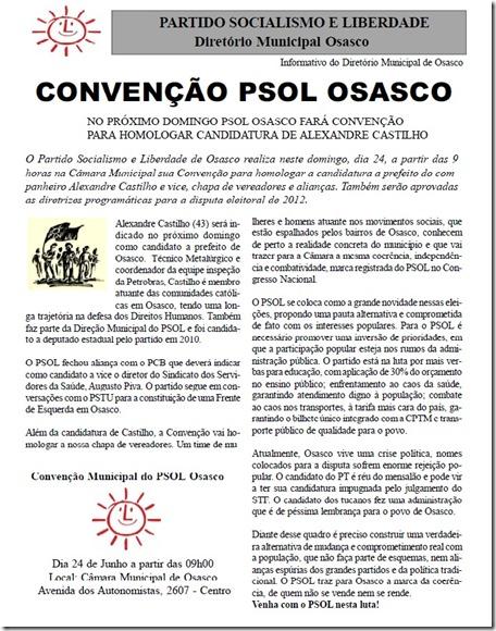 convençaõ do Psol