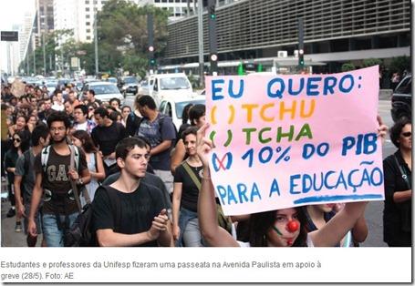 Sem Protesto de estudante