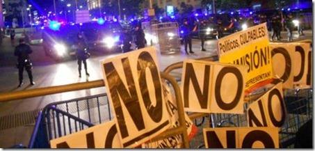 Indignados não se intimidam com repressão e voltam às ruas
