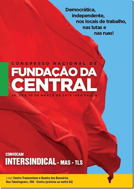 cartaz Fundação da Central