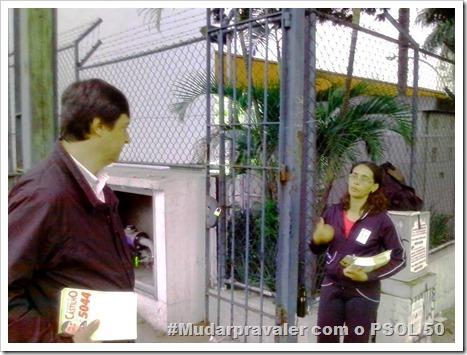 Panfletagem na faculdade Uniban Anhanguera com Castilho e márcia Tavares (10)