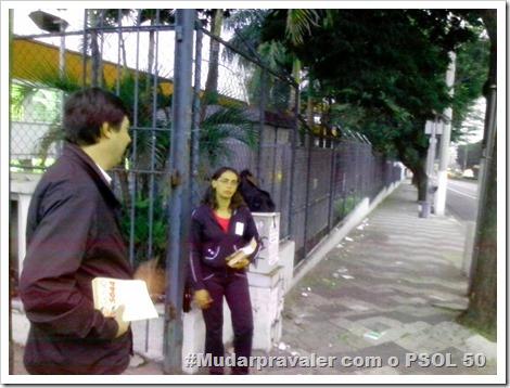 Panfletagem na faculdade Uniban Anhanguera com Castilho e márcia Tavares (11)