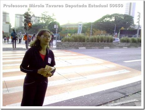 Panfletagem na faculdade Uniban Anhanguera com Castilho e márcia Tavares (1)