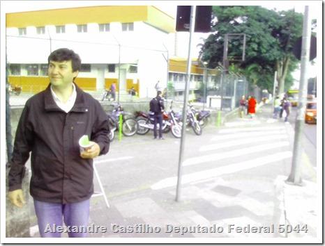 Panfletagem na faculdade Uniban Anhanguera com Castilho e márcia Tavares (4)
