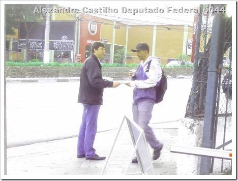 Panfletagem na faculdade Uniban Anhanguera com Castilho e márcia Tavares (8)