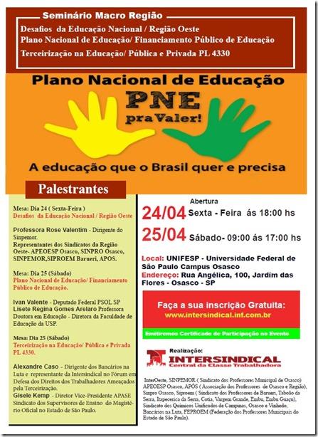 convocação Seminario da educação